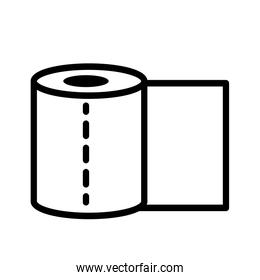 toilet paper roll clean hygiene line style icon