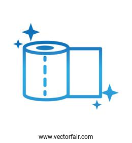 toilet paper roll clean hygiene gradient style icon