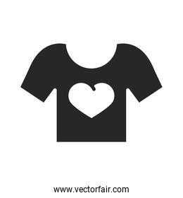 donation charity volunteering social tshirt heart printed silhouette style icon