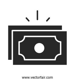 donation charity volunteer help social banknote money silhouette style icon