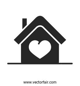 donation charity volunteer help social house heart assistance silhouette style icon