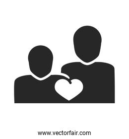 donation charity volunteer help social people heart community silhouette style icon