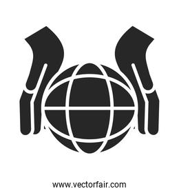 donation charity volunteer help social hands world lifestyle silhouette style icon