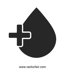 donation charity volunteer social blood medical helping silhouette style icon