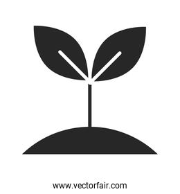 donation charity volunteer help social growing plant silhouette style icon