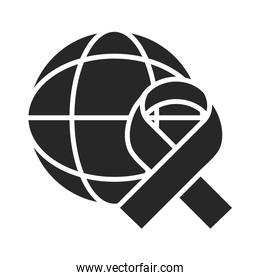 donation charity volunteer help social world ribbon awareness silhouette style icon