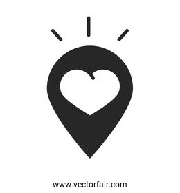 donation charity volunteer help social heart love pin location silhouette style icon