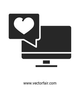 donation charity volunteer help social computer fundraising love silhouette style icon