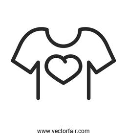 donation charity volunteering social tshirt heart printed line style icon