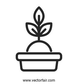donation charity volunteer help social potted plant line style icon