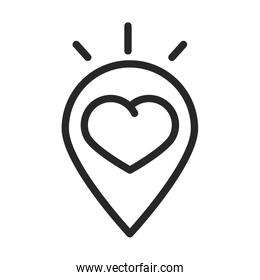 donation charity volunteer help social heart love pin location line style icon