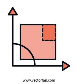 math education school science angle square line and fill style icon