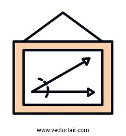math education school science board with angle line and fill style icon