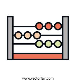 math education school science abacus arithmetic line and fill style icon