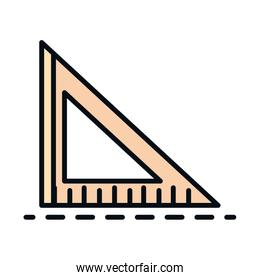 math education school science triangle ruler supply line and fill style icon