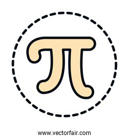 math education school science pi symbol line and fill style icon