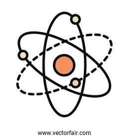 math education school science molecule line and fill style icon