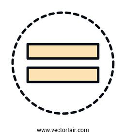 math education school science equal arithmetic symbol line and fill style icon