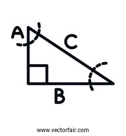 math education school science right triangle line and style icon