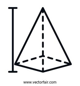 math education school science pyramid figure geometry line and style icon