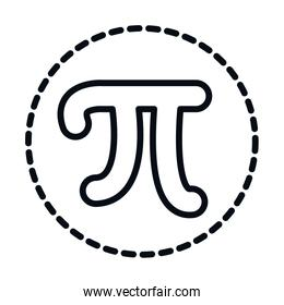 math education school science pi symbol line and style icon