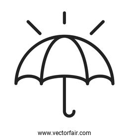 cyber security and information or network protection umbrella line style icon