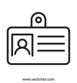 cyber security and information or network protection id card line style icon