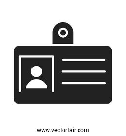 cyber security and information or network protection id card silhouette style icon