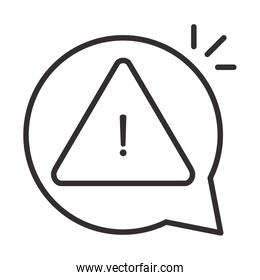 alert icon, security attention danger exclamation mark precaution, line style design