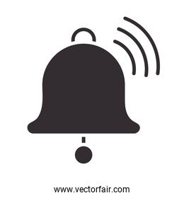 alert icon, bell notification, attention danger exclamation mark precaution silhouette style design