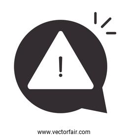 alert icon, security attention danger exclamation mark precaution silhouette style design