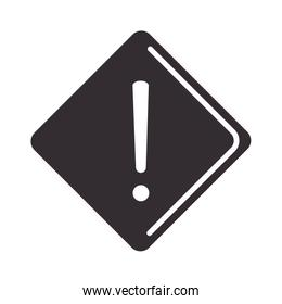 alert icon, warning sign, attention danger exclamation mark precaution silhouette style design