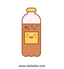 water bottle kawaii line and fill style