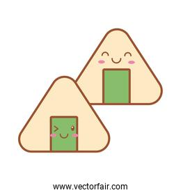 chinese fortune cookies kawaii line and fill style