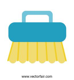 handle brush cleaning flat style
