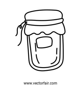 jar with preserve line style icon