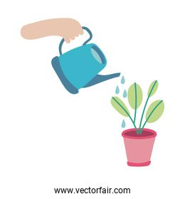 sprinkler with houseplant flat style icon