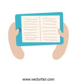 smartphone online things with ebook flat style