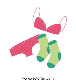 underwear clothes flat style icon