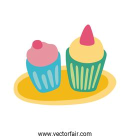sweet cupcakes flat style icon