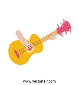 hands playing guitar instrument icon