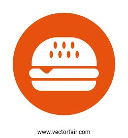 delicious burger fast food line style
