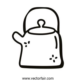 kettle line style icon vector design