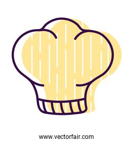 chefs hat line and fill style icon vector design