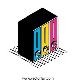 Isolated files isometric style icon vector design