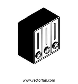 Isolated files isometric line style icon vector design