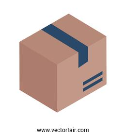 Delivery box isometric style icon vector design