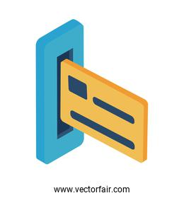 credit card isometric style icon vector design