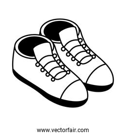shoes isometric style icon vector design