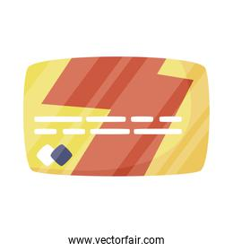 Isolated shopping credit card vector design